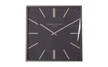 The square grpahite mirror wall clock from the Thomas Kent collection at EZ Living Furniture - front view