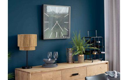 Square Mirror Wall Clock - Smithfield