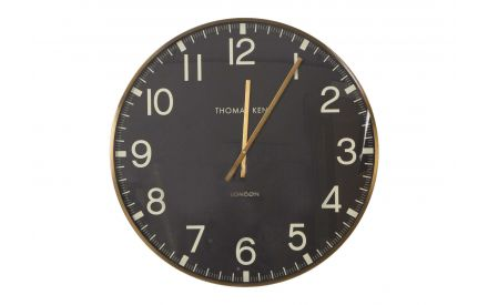 The brass clocksmith wall clock from the Thomas Kent collection at EZ Living Furniture - front view