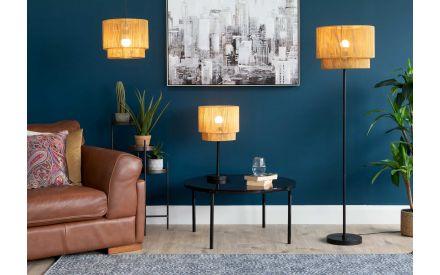 Gold Paper Rope Floor Lamp - Eris