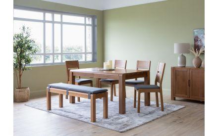 140cm Large Oak Dining Bench - Tiverton