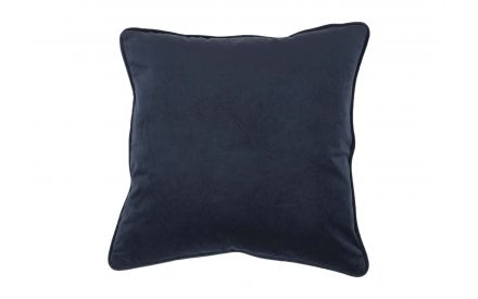 A navy velvet cushion availablle from EZ Living Furniture - front view