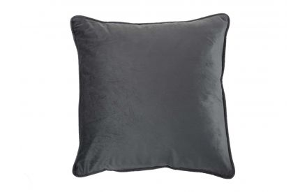 The dark grey velvet cushion from EZ Living Furniture - front view