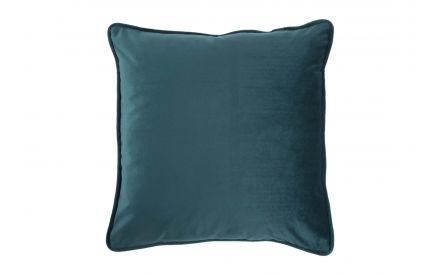 The blue-green velvet cushion from EZ Living Furniture - Front view
