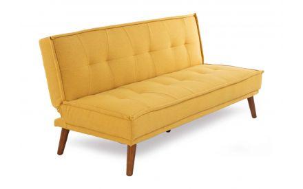 3 Seater Mustard Fabric Sofa Bed - Seattle