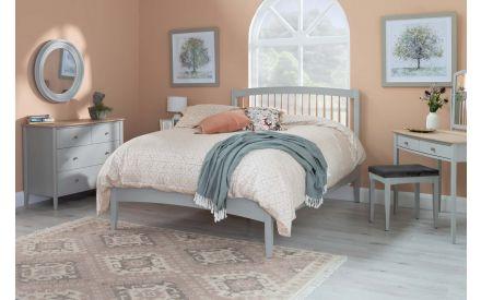 King Size (5ft) Scandi Oak & Grey Bed Frame - Whitby
