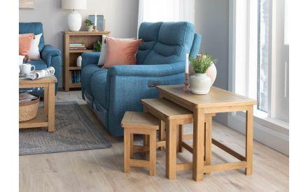2 Seater Teal Fabric Sofa - Flair