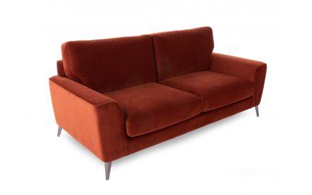 3 Seater Rust Velvet Sofa - Megan