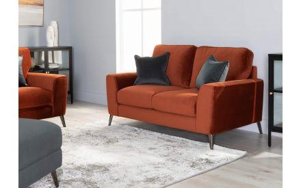 2 Seater Rust Velvet Sofa - Megan