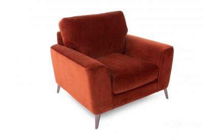 Rust Velvet Armchair - Megan