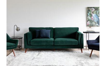 2 Seater Green Velvet Sofa - Bellini