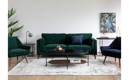 3 Seater Green Velvet Sofa - Bellini
