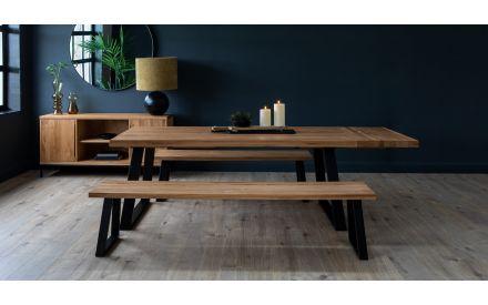 200cm Oak Dining Bench - Renvyle