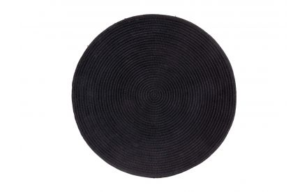 A black wall ornament from EZ Living Furniture's Duaca range. Front view of the textured plate.