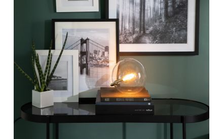 Glass with Gold Orb Table Lamp - Joni