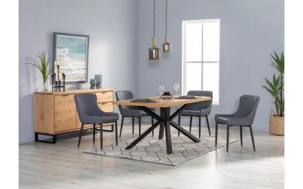 Medium Blue Grey Table Lamp - Phoebe