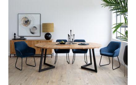 130cm Oak Round Extendable Dining Table - Mila