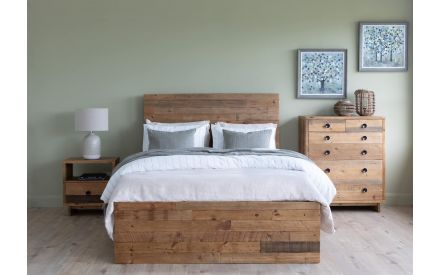 Double (4ft 6) Reclaimed Pine Bedframe - San Francisco