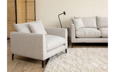 Cream Fabric Armchair - Hunter
