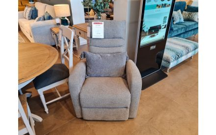 Actual look of the Action power recliner chair floor model on offer in Fonthill store