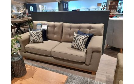 Actual Fjord 3 Seater Mink Fabric Sofa  Floor Model on offer in the store