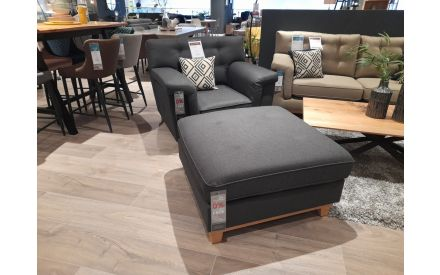 Actual Fjord Armchair + Footstool on offer in the store