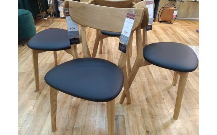 Actual look of the Pero dining chairs floor models on offer in Pop up store