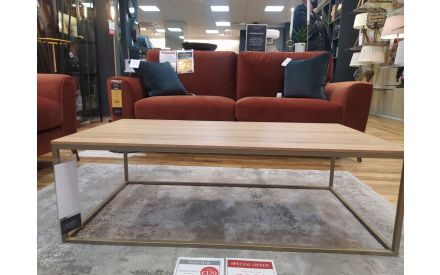 Actual look of the Aston coffee table floor model on offer in Pop up store
