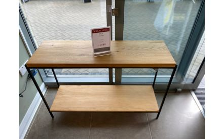 Actual front shoot of the Mila console table floor model on offer in Clonmel store