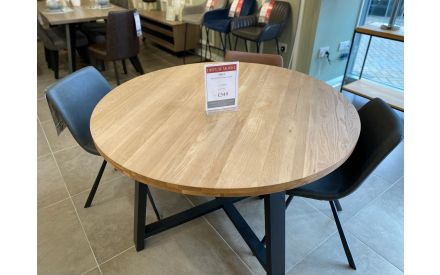 Actual look of the Mila round table floor model on offer in Clonmel store