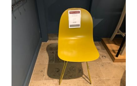 Actual front look of the Academy dining chair floor model on offer in Blanchardstown store