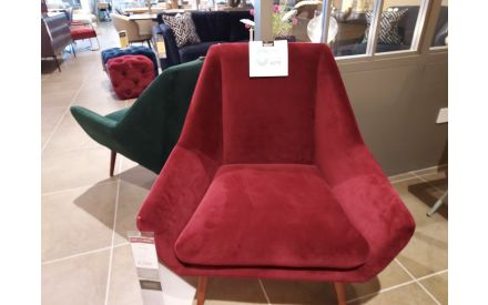 Actual look of the Janey armchair floor model on offer in City East store