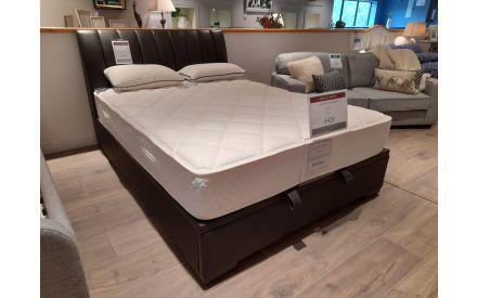 Lancelot (5 ft) Brown Leather Ottoman Bed  (Castlebar Floor model)