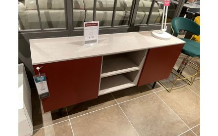 Actual angle shoot of the Made 2 door sideboard floor model on offer in Tallaght store
