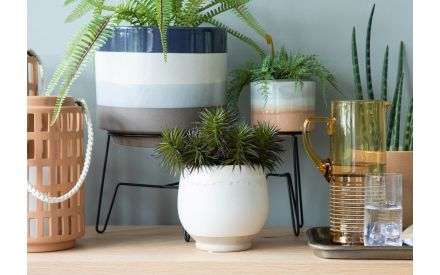 Cream Plant Pot - Mell (Collection Only)