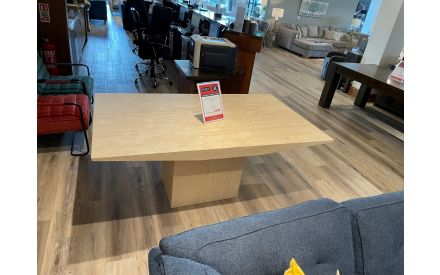 A truly striking table that would grace any dining room, the actual Light Marble Monaco Dining Table on offer in Limerick store