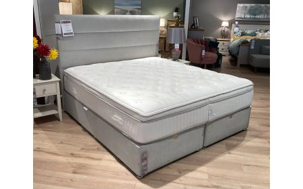 Actual look of the 6ft K base + Elite headboard + natural sleep mattress floor models on offer in Tallaght store