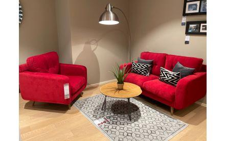 Actual Scarlet sofa 2 seater + armchair floor model on offer in Sligo store