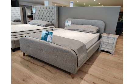 Actual angle look of the Serena 5ft bedframe floor model on offer in Tallaght store