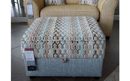 Actual look of the Accent Valencia footstool floor model on offer in City East store