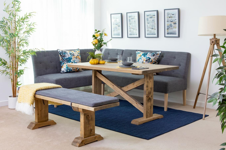 Right Hand Facing Corner Dining Bench Stanford Ez Living Furniture