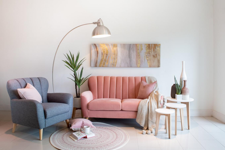 Pink Harper Sofa Lookbook