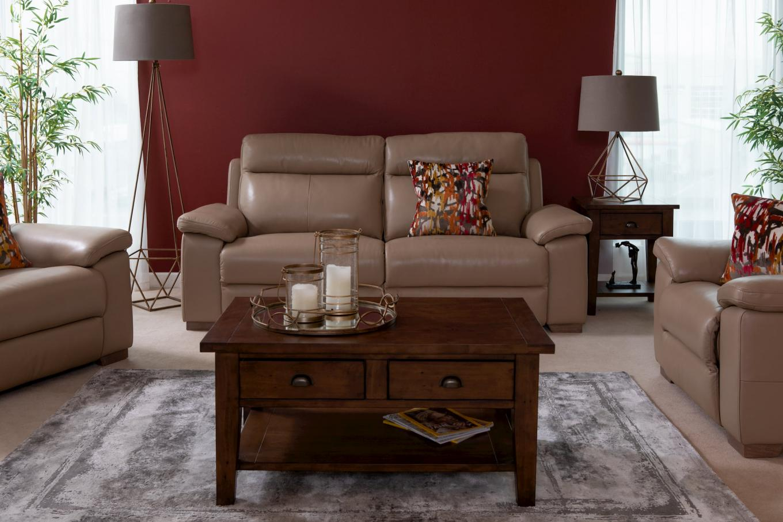 Reclining Amalfi Leather Sofa & Henley Living Lookbook