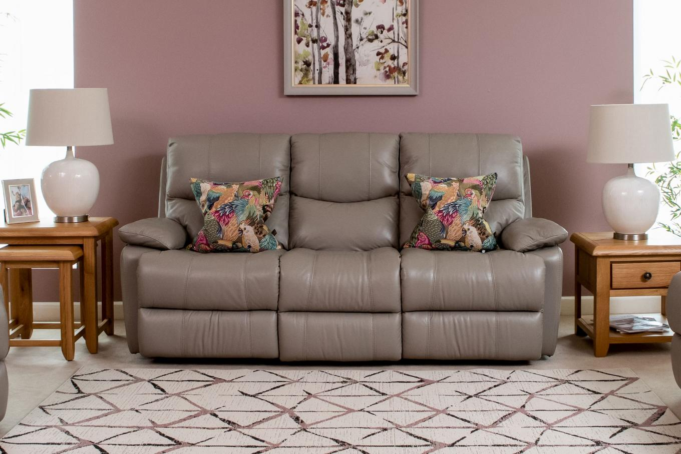 Power Reclining 3 Seater Groove Large Rug Lookbook