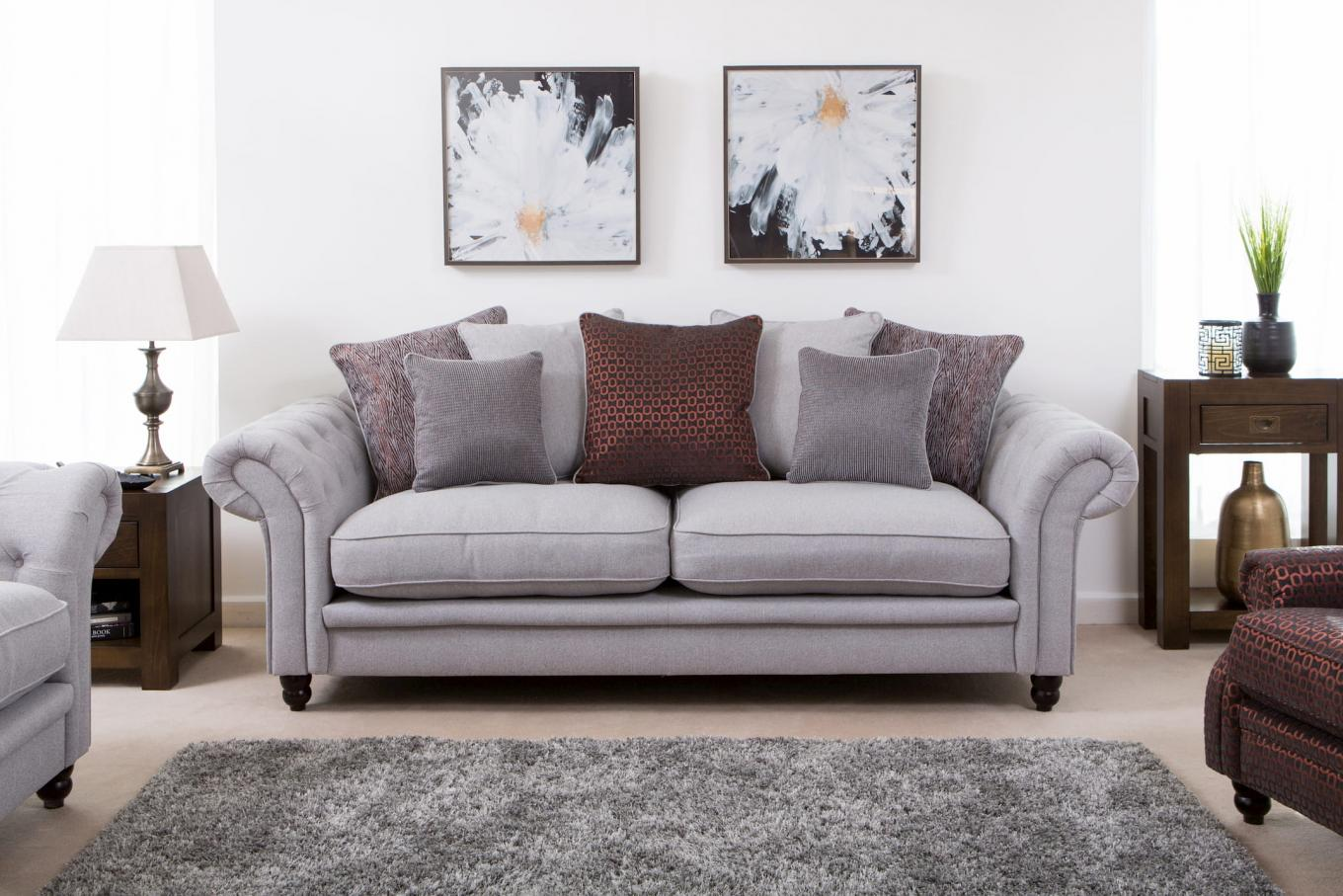 Evelyn Sofa Brown Cushions & Montreal Lookbook