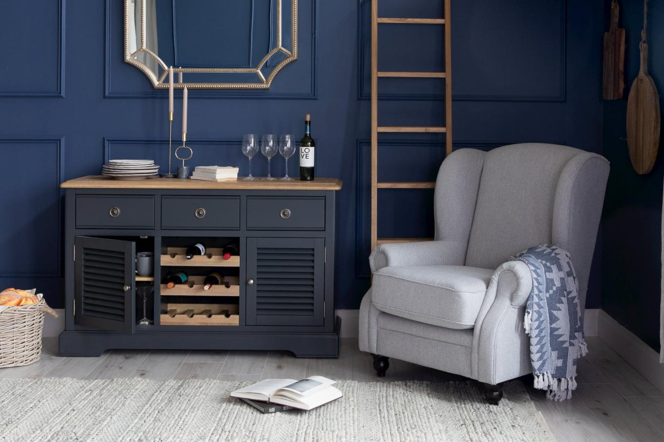Toulouse Charcoal Sideboard with Rack Lookbook