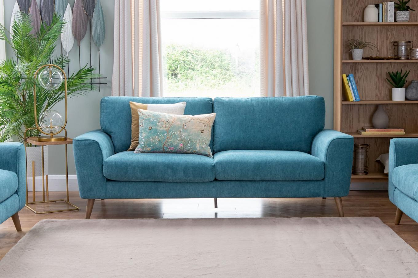Megan Teal 3 Seater Lookbook