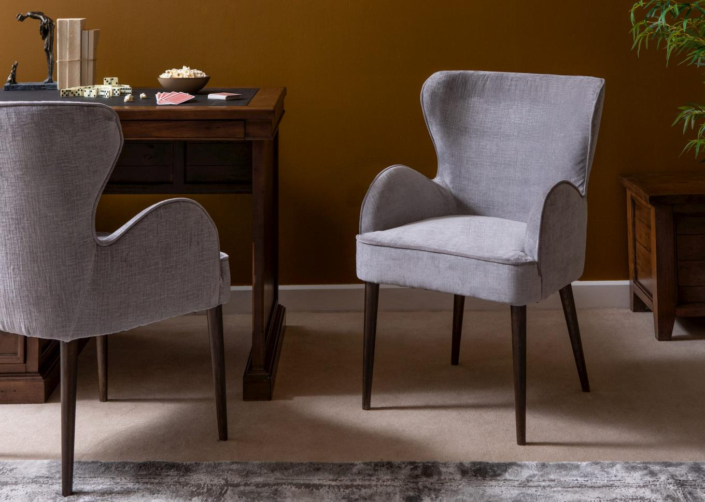 Grey Fabric Lounge Chair Carrick Lookbook