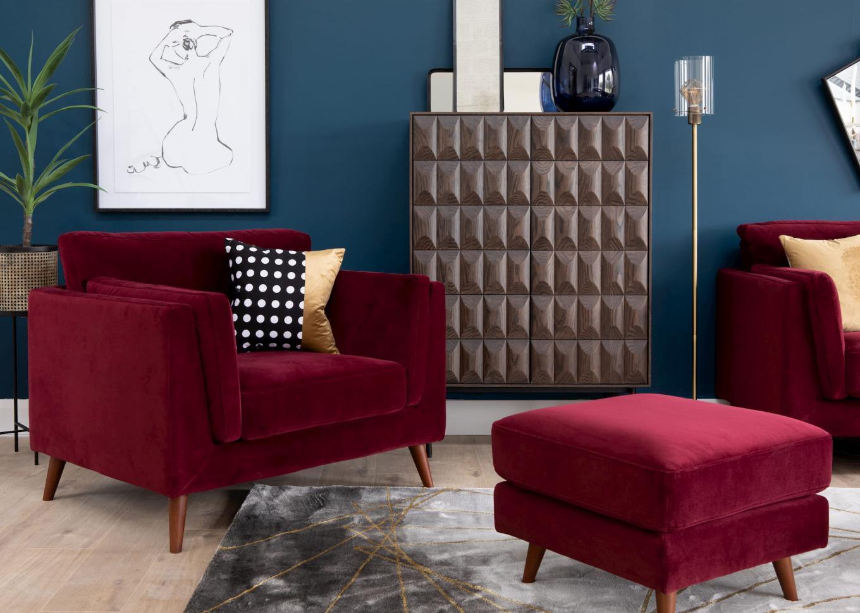 Bellini Wine Armchair Footstool Lookbook