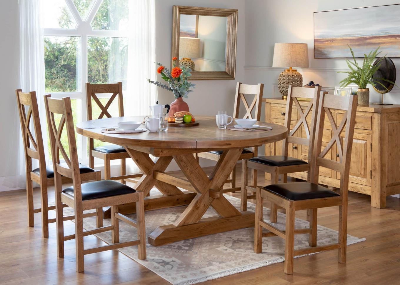 Athens Round Oak Dining Lookbook